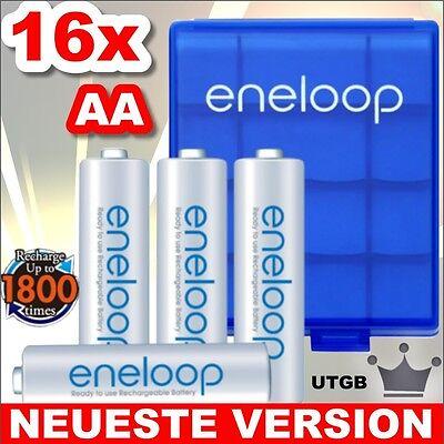 16 x ENELOOP AA MIGNON AKKU + 4 x BOX ! ORIGINAL SANYO