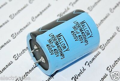 1pcs - MALLORY 560uF (560µF) 400V LPX561M400H4P3 Snap-In Capacitor - (BOX032)