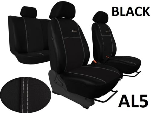 TOYOTA HILUX 2005-2016 LEATHER /& ALICANTE SEAT COVERS MADE TO MEASURE TAILORED