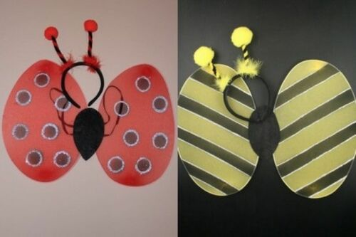 LADYBIRD BUMBLE BEE BUTTERFLY WINGS PARTY FANCY DRESS HEN NIGHT SMALL NET 45X40