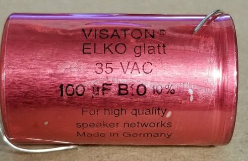 100 uF AUDIO BRAND NEW VISATON-CAPACITOR 35VAC B10 10/% FREE SHIPPING