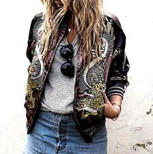 ZARA LIMITED EDITION -LAST ONE! DRAGON EMBROIDERED REVERSIBLE! Bomber JACKET-M
