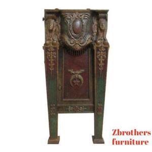 Victorian-Mason-Masonic-Architectural-Salvage-Cast-Iron-Theater-Seat-Freemason-A