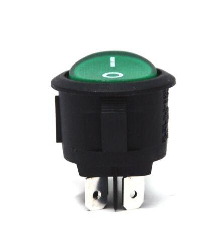 4P DPST 6A250V 10A125V Vert Ul 5pc RLEIL φ25mm Round Rocker Switch RL3-5 x