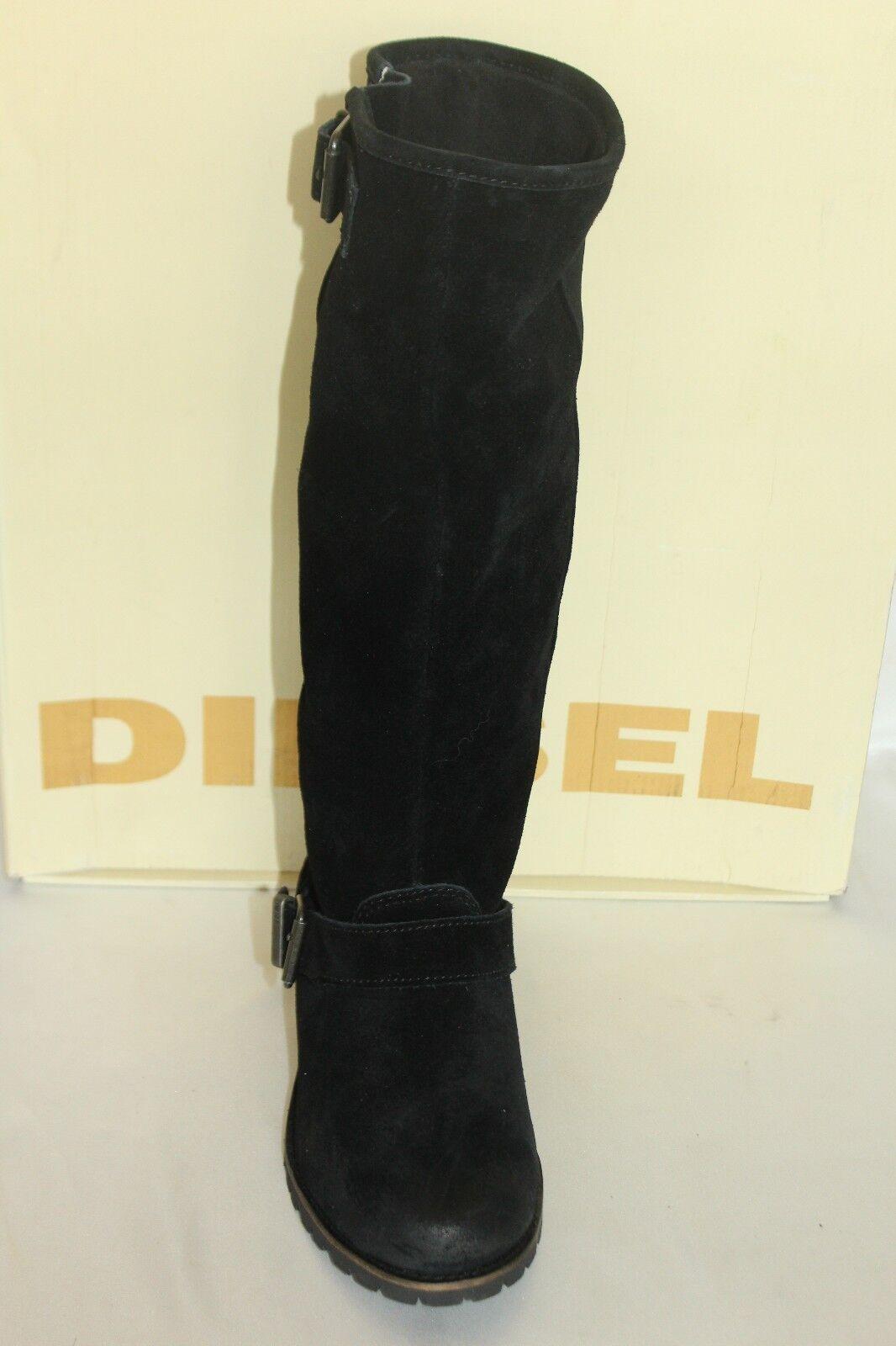 Nuevo Diesel nos encanta Envejecida Prairie Señuelo Gamuza Negra Envejecida encanta Hebilla Moto botas 6  250 dc4f3e