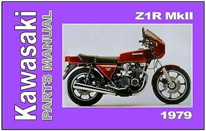 Details about KAWASAKI Parts Manual KZ1000 Z1R MK-II 1979 to 1980  Replacement Spares Catalog