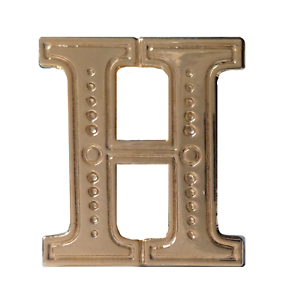 Letter H Gilded Orange Order Collarette Character