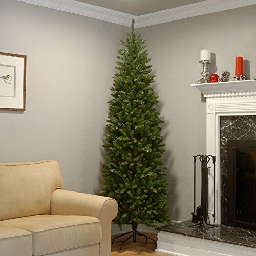 Artificial Flame Resistant Christmas Tree for Display in Tight Corners (7.5 Ft)