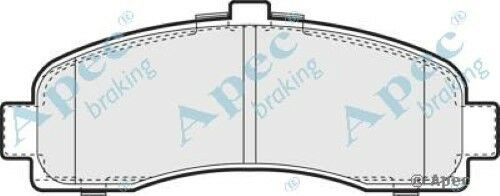 1x OE Quality Replacement Apec Front Axle Brake Pad Set