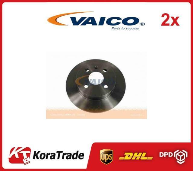2x V40-40027 VAICO REAR OE QUALITY BRAKE DISC SET
