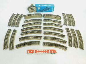 BN641-2-43x-Maerklin-H0-AC-5100-Gleisstueck-Schiene-gebogen-M-Gleis-1x-OVP