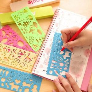 4pcsset Colors Plastic Painting Stencils Diy Drawing Template Kids