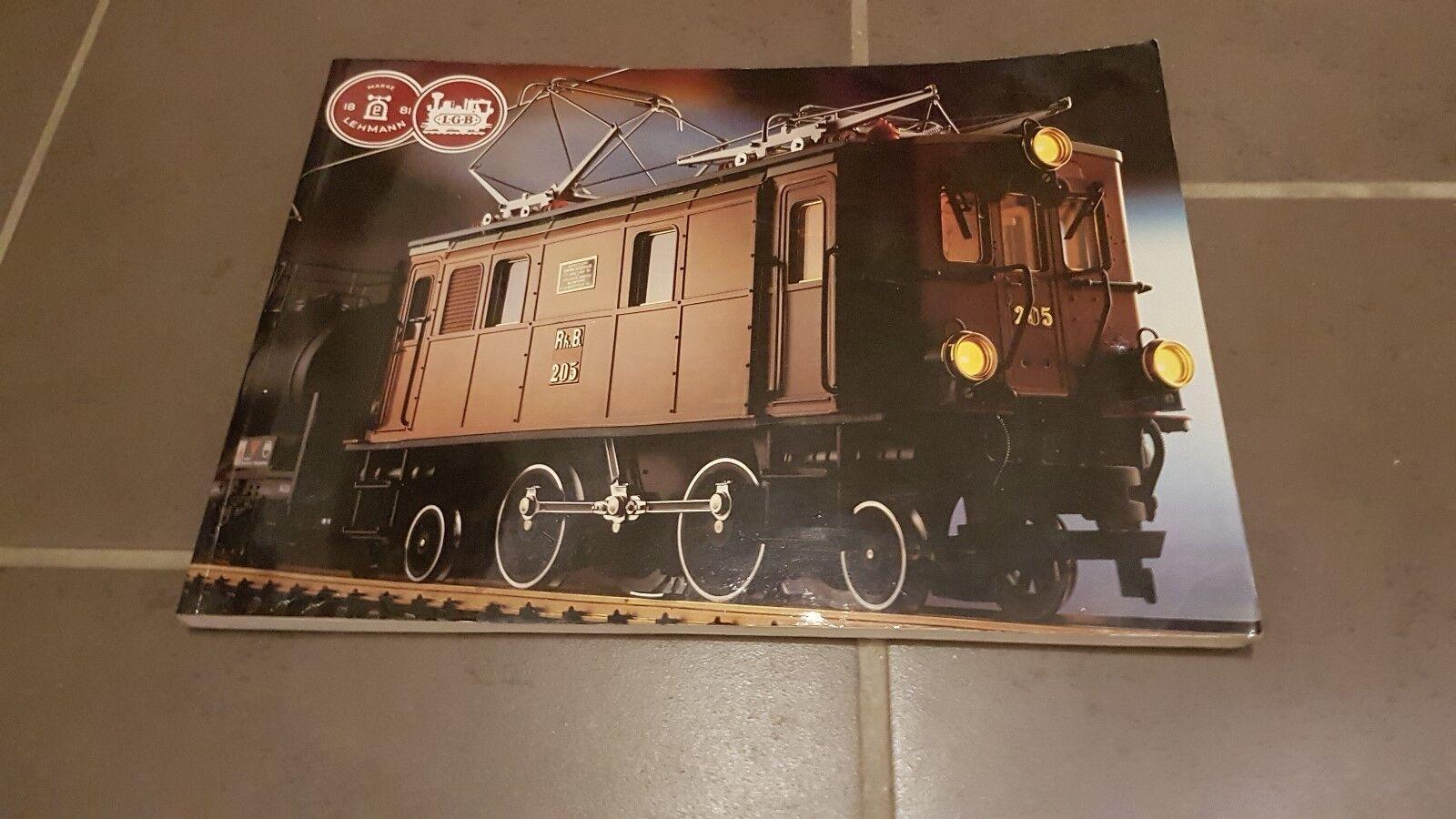 LGB Ferrovia Grande catalogo 1986/87  per la sua età correttamente ben conservati