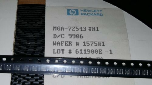5x Hewlett-P MGA-72543 SOT-343 GaAs MMIC Low Power Amplifier 100MHz-6.0GHz