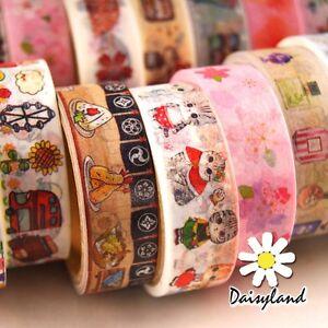 Mutil Styles Cute Washi Tape Paper Sticker DIY Scrapbooking Planner Decoration