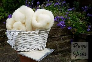 Core Wool Needle Felting Stuffing Filling 500g CARDED WOOL FROM BRITISH SHEEP
