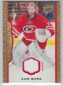 2014-15-UD-MASTERPIECE-CAM-WARD-JERSEY-85-RED-GAME-USED-51-Upper-Deck-Hurricane