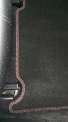 F60 Velours Deluxe schwarz Doppelnaht rot Fußmatten für Mini Countryman R60