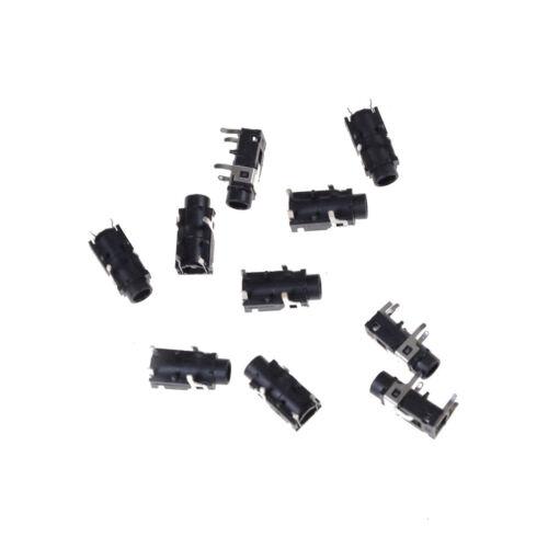 "10 Pcs PCB Panel Mount 4 Pin 1//8/"" 3.5mm Female Socket Stereo Headphone Jack h3"