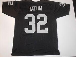 meet f478e 9a4fd Details about UNSIGNED CUSTOM Sewn Stitched Jack Tatum Black Jersey - M, L,  XL, 2XL