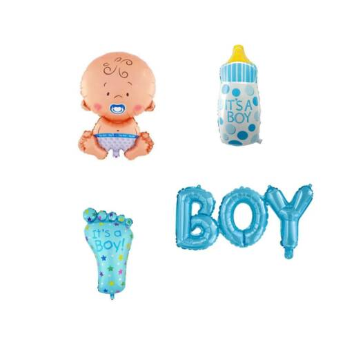 4pcs Large Foil Balloon Helium Baby Shower Party Decoration Christening Boy Girl