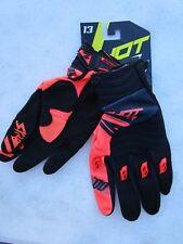 SHOT race gear motocross men/'s CAPTURE gloves sz 8 wht//org//blu