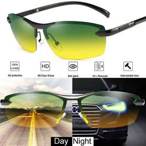 a3f17e176b Day Night Vision UV400 Men s Polarized Sunglasses Driving Pilot Sun ...