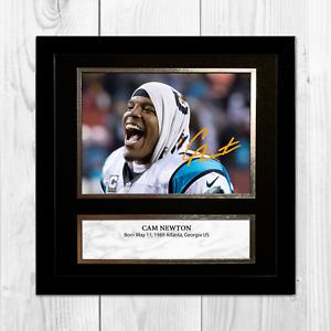 CAM-NEWTON-NFL-Carolina-Panthers-ENCADREE-NON-encadre-signe-Poster-10-034-x10-034