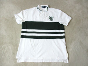 VINTAGE-Ralph-Lauren-Polo-Shirt-Adult-Extra-Large-White-Green-Cricket-Club-Mens