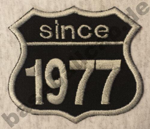 Patch ricamate anni numero since 1977 Biker Hot Rod Custom