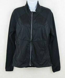 Athleta Twilight Run Full Zip Athletic Jacket Black Pockets Women's Medium