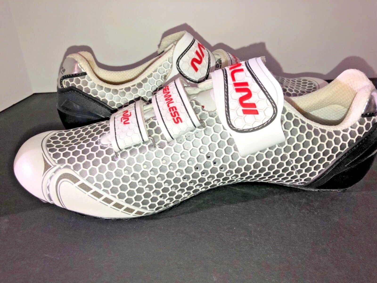 NWOT NWOT NWOT NALINI KRAKEN HF SEAMLESS Weiß UNISEX CYCLING Schuhe SIZE 44 c833a5