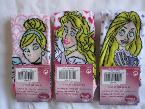"FREE POST TO UK ONLY BNWT 3 PAIR /""DISNEY PRINCESS/"" SOCKS 3 SIZES AND DESIGNS"