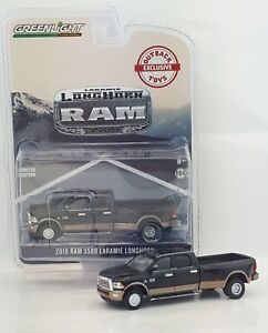 Details about 1:64 GreenLight *BLACK & BROWN* 2018 RAM 3500 Laramie DUALLY  Pickup Truck *NIP*
