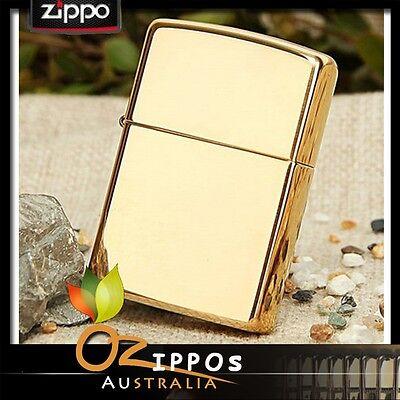 "Zippo Lighter ""High Polish Brass"" 254b --- Free Shipping in Australia"