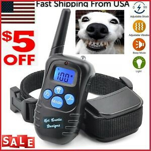 1000 FT Remote Dog Shock Training vibration Collar Rechargeable LCD Pet Trainer