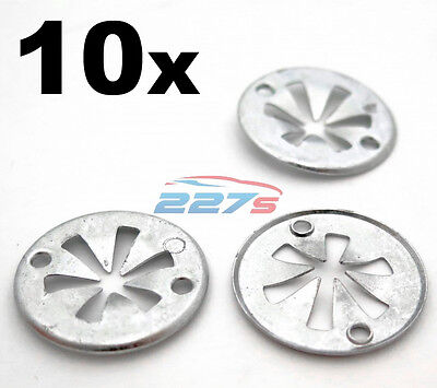 10 X MERCEDES-BENZ Metal Locking Star Washers Underbody Heat Shield Fasteners