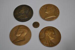 Lot de 4 gros lourd Le président des États-Unis médaille bronze pièces