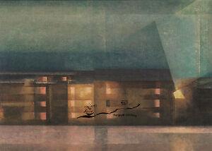 Doppelkarte:  Lyonel Feininger - Nächtliche Staße / Dessau