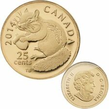 2014 Canada 25 cent 0.5 g Fine Gold Coin - Chipmunk- Tax Exempt