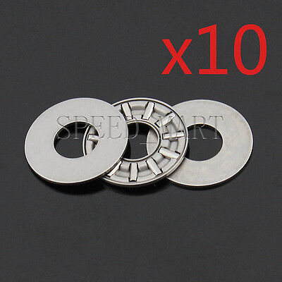 50 PCS AXK0821 Thrust Needle Roller Bearing With Two Washers 8mm x 21mm x 2mm