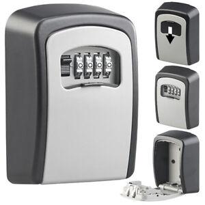 Xcase-Mini-Schluessel-Safe-zur-Wandmontage-1-mm-Aluminium-Zahlenschloss