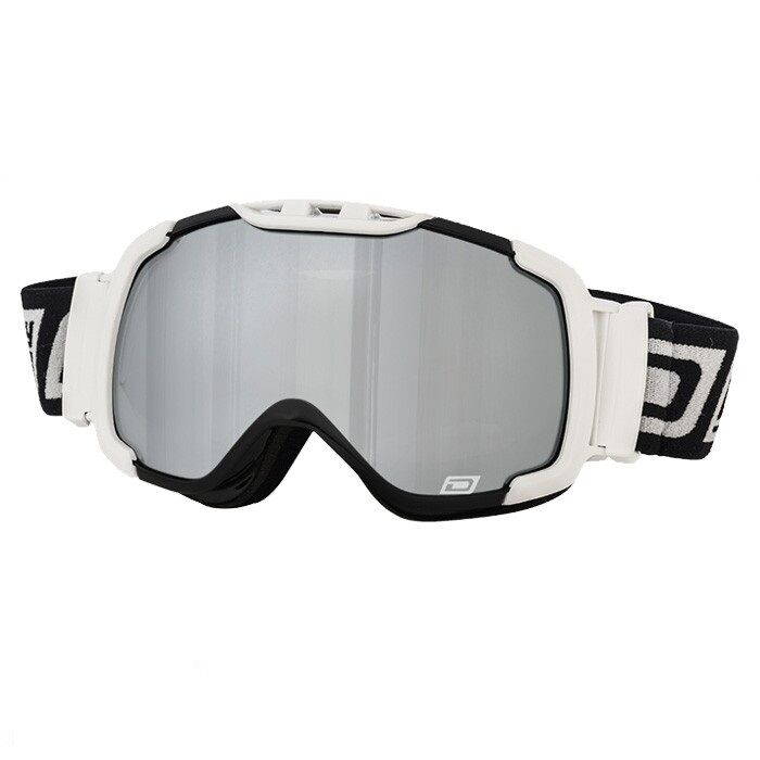 DIRTY DOG WHITE RENEGADE GREY MIRROR LENS ADULT UNISEX SNOWBOARD GOGGLE 54152