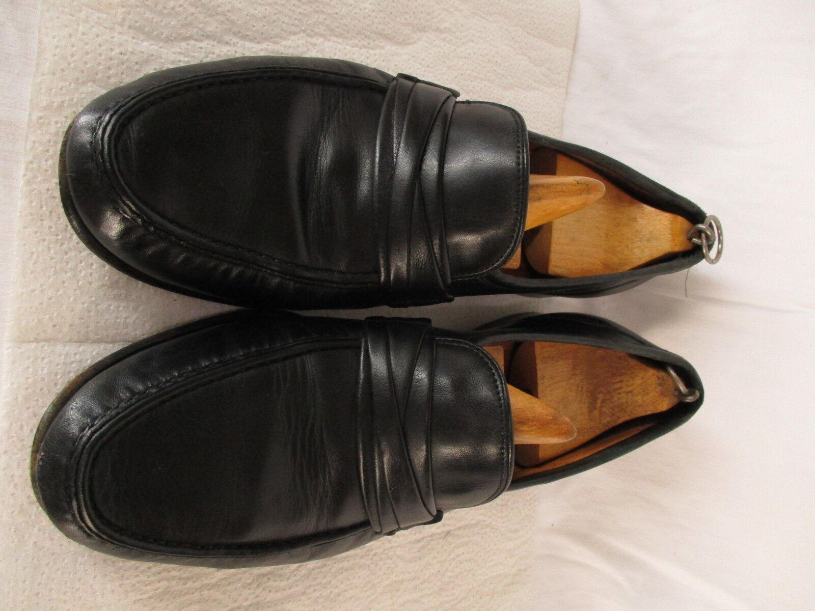 Allen Edmonds Bergamo Mens Black Loafers 11.5B