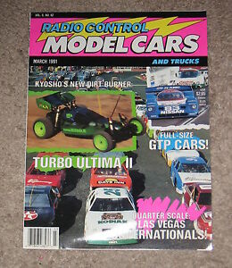 Vintage Radio Control Model Cars Magazine March 1991 Ebay