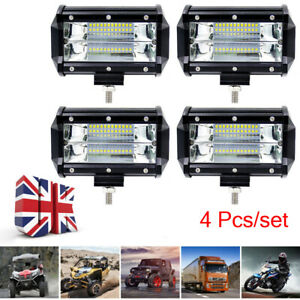 4-Pieces-5-Inch-Car-LED-Flood-Spot-Work-Light-Bar-Driving-Fog-Lamp-Offroad-Truck