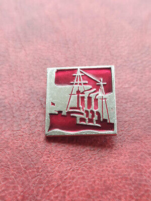Soviet Vintage collectible badge Communism Vintage Pin Soviet Union Aurora ship 1980s 1917 October Revolution Rocket Made in USSR