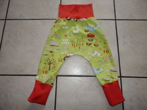 Mitwachshose-Pantalon bouffant DE jersey vert avec motifs ferme