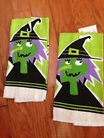 Happy Halloween Trick Or Treat Spooky Witch Kitchen Towels. 15 X 25.