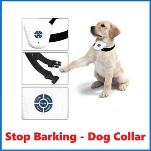 Twin Pack 2x Bark Stop Pet Dog Training Collar Ultrasonic Anti Barking Control